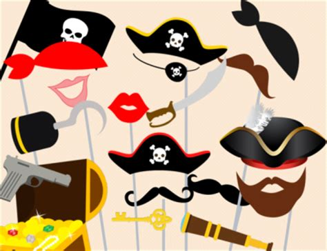 printable pirate photo booth props pirate photo booth props 400x308 png