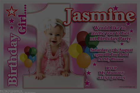 baby birthday invitations templates free personalised 1st birthday free
