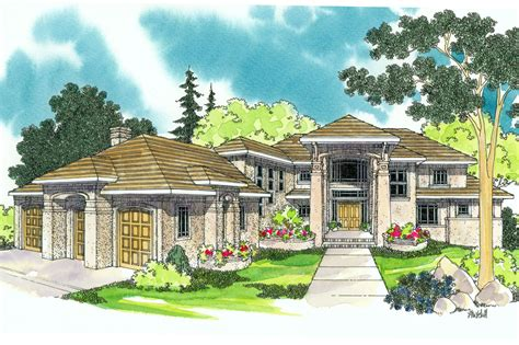 Mediterranean House Plan by Mediterranean House Plans Vista 30 274