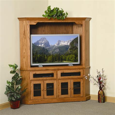 entertainment cabinet with doors amish shaker corner entertainment center