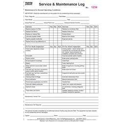 maintenance amp service log book tuffa products