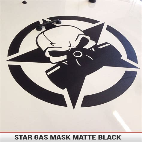 jeep wrangler military decals biohazard gas mask star