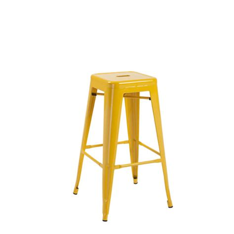 Yellow Metal Bar Stools by Hoxton Yellow Metal Finish Vintage Look Stackable Bar Stool