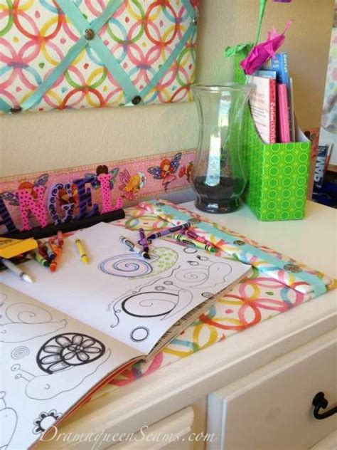 Diy Desk Blotter Antonette S Desk Pinterest Desk Pad Diy Desk Blotter