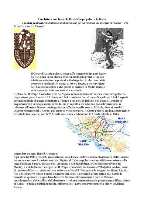 lettere polacche una lettera con francobollo corpo polacco in italia by
