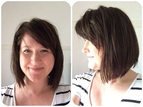 diy bob haircut short and messy hair pinterest bobs