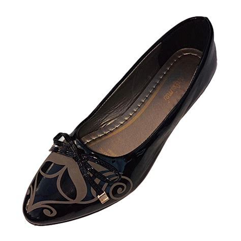 generic women pu leather flat shoes black   price