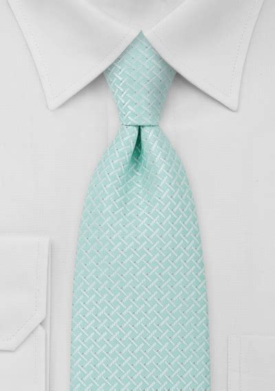 mens tie in light turquoise ties shop plaits checks
