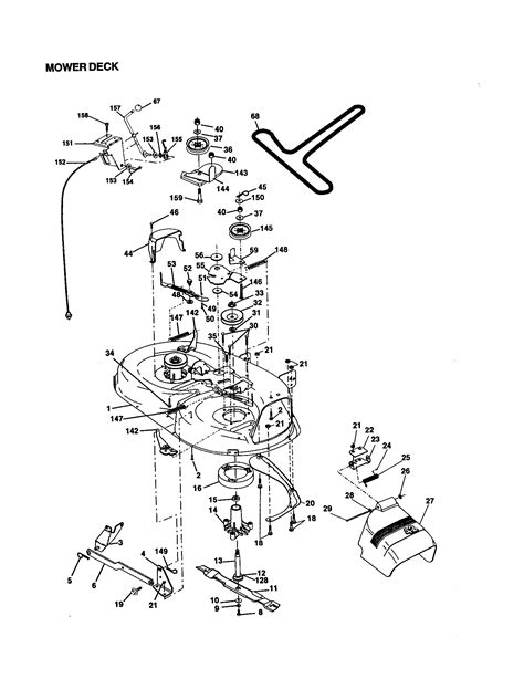 craftsman mower parts diagram craftsman 14 5hp 42 quot mower lawn tractor mower deck parts