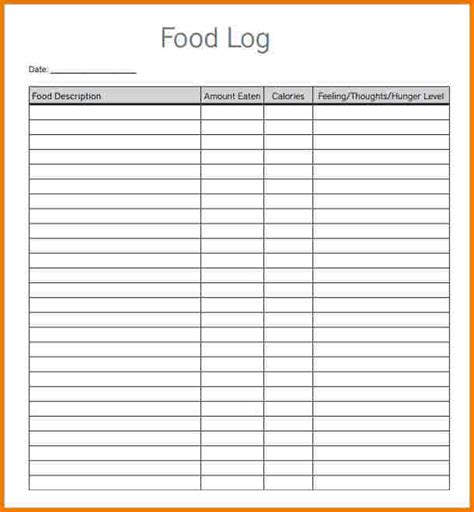 word food template food log template authorization letter pdf