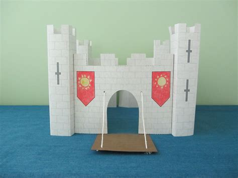 How To Make A Paper Castle Easy - 3d paper castle project for