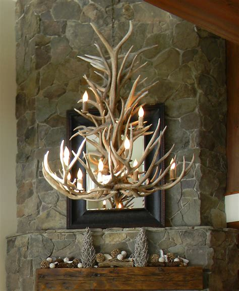 How To Make A Deer Horn Chandelier Mad River Antler Elk Mule Deer Antler Chandelier 225