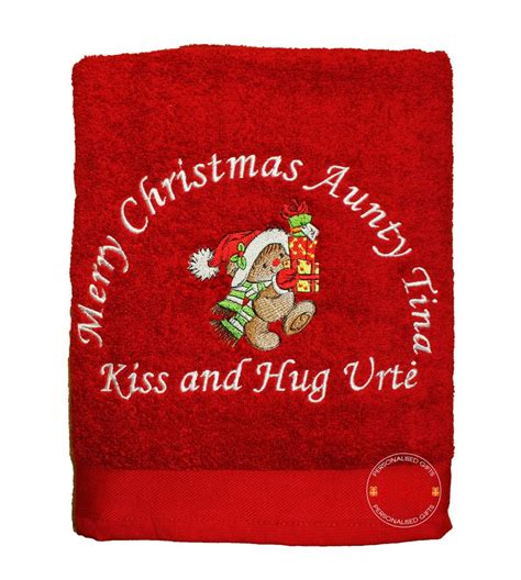embroidered towel christmas gifts christmas embroidery