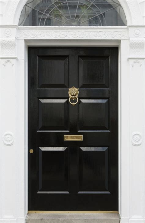pictures  black front doors front entry