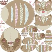 The Tabby Cat Patchwork Fabric Shop - woodmouse bobbit s shop on spoonflower fabric wallpaper