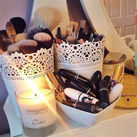 white make up desk home accessory white make up organizer