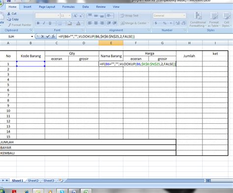 belajar membuat database dengan excel 2007 contoh database dengan excel gontoh