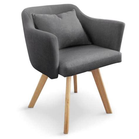 chaises fauteuil chaise fauteuil scandinave dantes tissu gris fonc 233