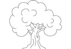 Tree kids drawing of an oak tree coloring page kids drawing of