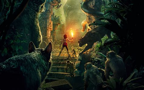 wallpaper for walls jungle the jungle book 2016 wallpapers best wallpapers