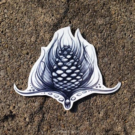 pinecone tattoo pinecone temporary tattoo nature