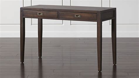 crate and barrel desk morris 48 quot chocolate brown writing desk crate and barrel