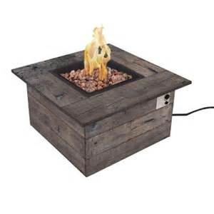 Home Depot Firepits Bond Manufacturing Galleon 38 In Square Envirostone Propane Pit