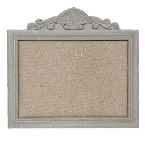 memoboard landhausstil kleine pinnwand shabby antik grau aus holz mit ornament