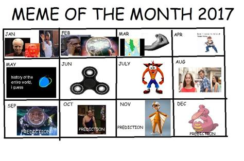 Meme Calendar - after much deliberation i present the 2017 meme calendar