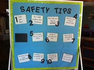 bulletin board design for home economics safety tips safety and stay safe on pinterest