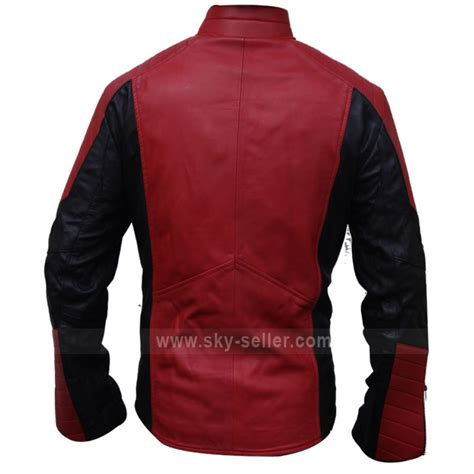 red motorcycle jacket the amazing spider man red black biker leather jacket