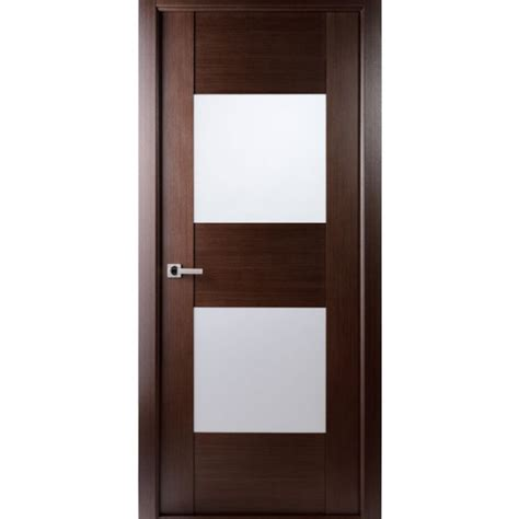 Aries Mia Ag105 Interior Door In A Wenge Finish With Frosted Glass Panel Interior Doors