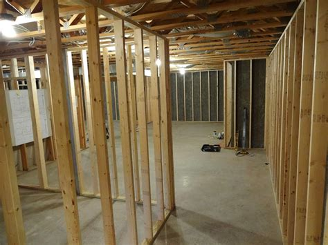 framing interior basement walls how do you frame a basement wall