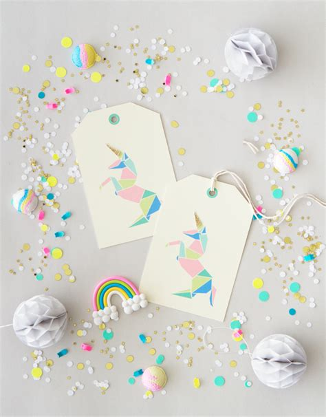 free printable unicorn tags free printable origami unicorn gift tags