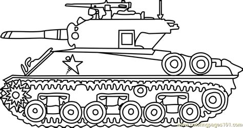 free printable coloring pages army tanks m4 sherman army tank coloring page free tanks coloring