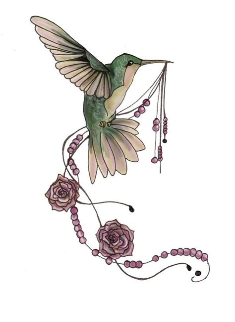 hummingbird rose tattoo 42 best realistic and hummingbird images on