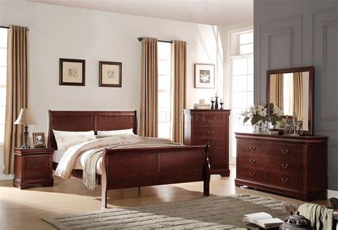 louis philippe bedroom louis philippe bedroom 5pc set 23750 in cherry by acme w