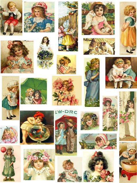 pictures for decoupage decoupage paper vintage children collage sheets