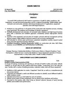 Geotechnical Report Writing by Firefighter Resume Template Premium Resume Sles Exle