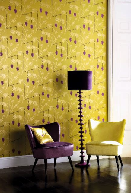 Yellow And Purple Living Room by Yellow And Purple
