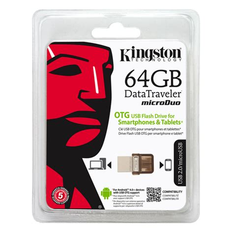 Otg 64gb kingston dtduo 64gb otg micro usb memory stick flash back up drive