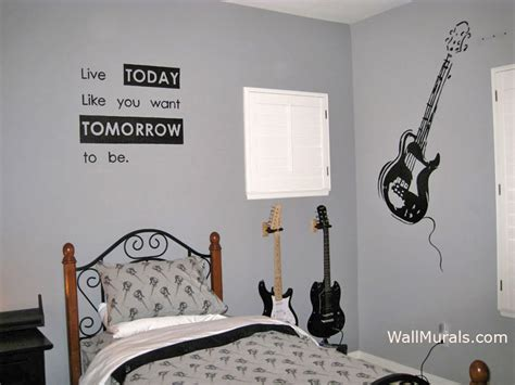 guitar wall murals wall murals for tweens exles of wall murals
