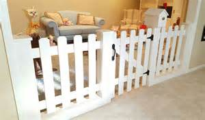 Nursery Room Divider Baby Gate Playroom Picket Fence Room Divider