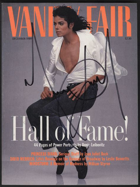 lot detail michael jackson signed vanity fair magazine