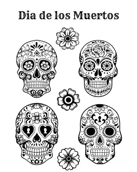 dia de los muertos printables free printable dia de los muertos coloring page dia de