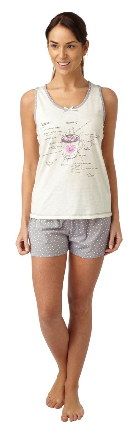 Pyjamas Set Toppants Size Ml womens pyjamas 2 set vest top shorts nightwear