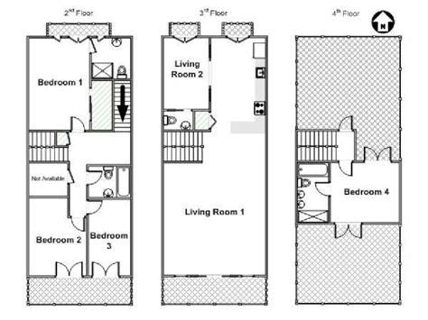 Triplex Apartment Plans New York Apartment 4 Bedroom Triplex Apartment Rental In