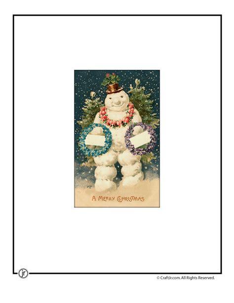 printable christmas cards vintage 9 best images of snowman vintage christmas printables free