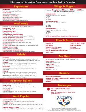 zaxbys applicationpdffillercom fill online printable