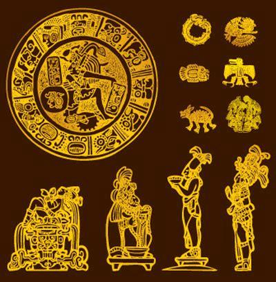 imagenes mayas vectorizadas paquete de ilustraci 243 n azteca y maya vectorizada interlinkeo